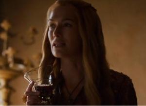 Cersei has a bit to drink header