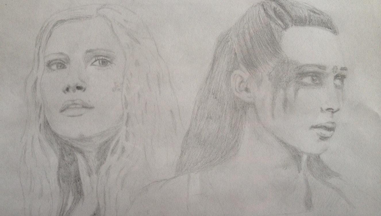 Clarke Griffin and Commander Lexa Drawn by Elke